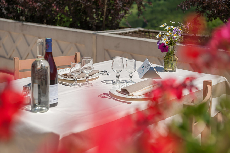 Terrasse/repas du Sorbier